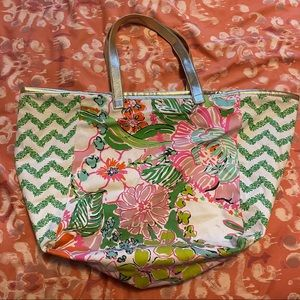 Lilly Pulitzer Target Collab Floral Tote Bag